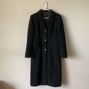 J. crew black label wool cashmere pea coat